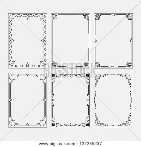 set frame image decorative ornamental frame abstract frame