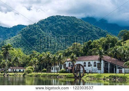Old countryside farm (fazenda) in state Rio de Janeiro Brazil