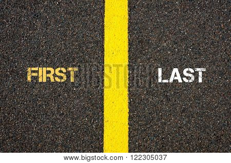 Antonym Concept Of First Versus Last