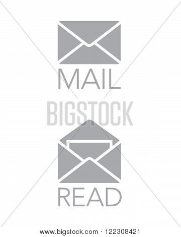 A collection of read and unread mail icons