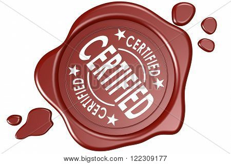 Certified Label Seal Isolated