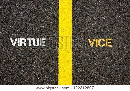 Antonym Concept Of Virtue Versus Vice