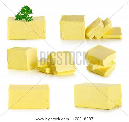Butter Isolated On The White Background