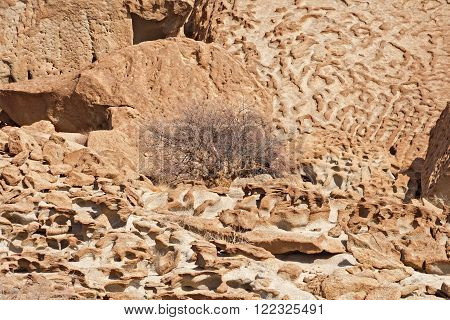 stone formation north of the Welwitschia Plains, Namibia