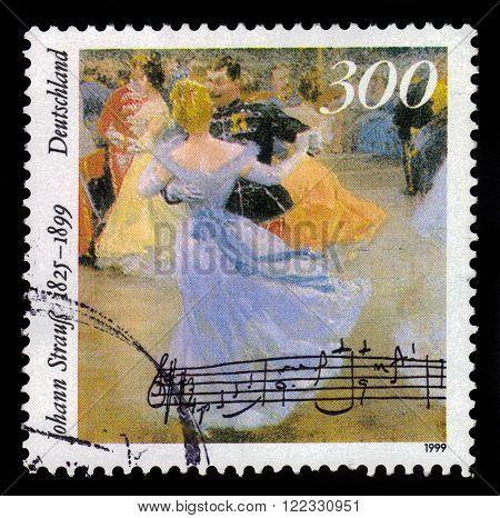 GERMANY- CIRCA 1999: stamp printed by Germany, shows Johann Strauss, the Younger, circa 1999