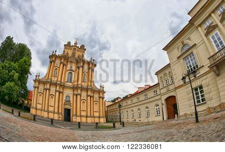 Church of St. Joseph of the Visitationists (Polish: Kosciol Opieki sw. Jozefa) commonly known as the Visitationist Church (Polish: Kosciol Wizytek) in Warsaw, Poland. It's construction was begun in 1664 and completed in 1761