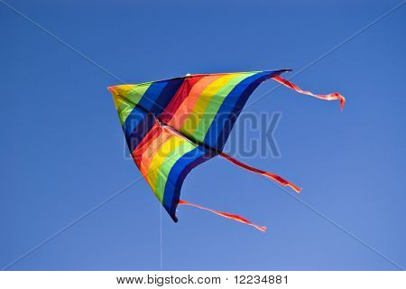 colorful kite on blue sky