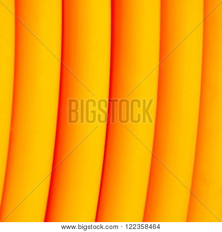 Detail of a yellow broadband cable roll