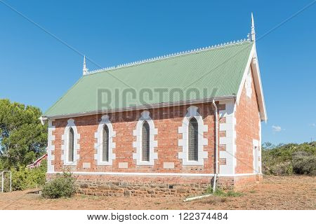 MIDDLETON, SOUTH AFRICA - FEBRUARY 19, 2016: The All Saints United Church in Middleton, a hamlet in the Eastern Cape Province 30 km south of Cookhouse