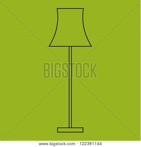 Icon of Lamps. Modern outline style