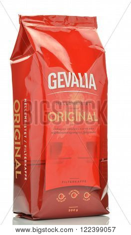 CIRCA MARCH 2016 - GDANSK: Gevalia Original coffee isolated on white background. Gevalia was founded in 1853 in Gavle in Sweden and it 
