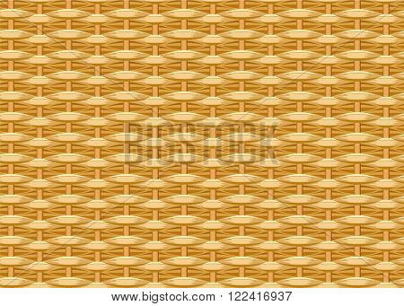 Seamless braided background. Wicker straw. Woven willow twigs. Wicker texture. Illustration in vector format