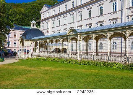Karlovy Vary - Sadova kolonada Carlsbad - Sadova colonnade spa town Czech Republic