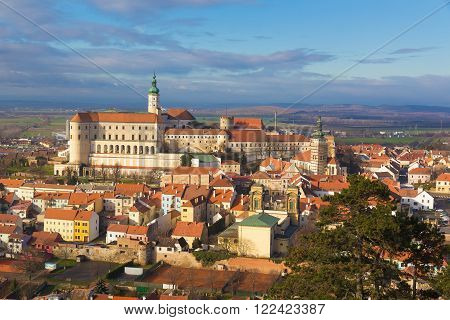 Mikulov castle from St.Hill Southern Moravia Czech Republic