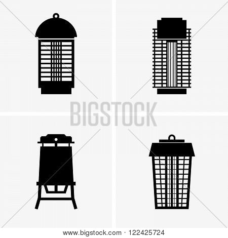 Set of four electric mosquito traps, shade pictures