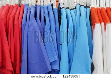Hanging Red Purple Blue and White T-Shirt