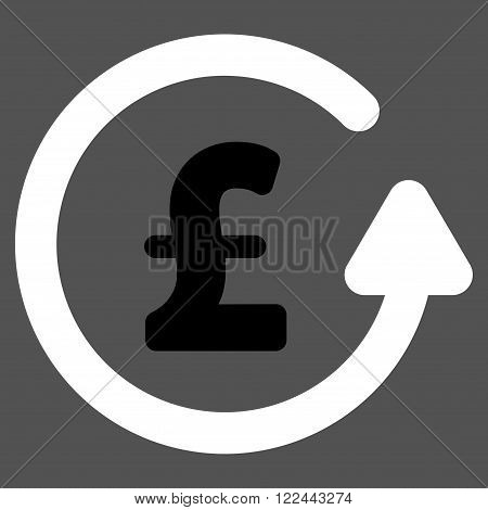 Chargeback Pound vector icon. Chargeback Pound icon symbol. Chargeback Pound icon image. Chargeback Pound icon picture. Chargeback Pound pictogram. Flat chargeback pound icon. poster
