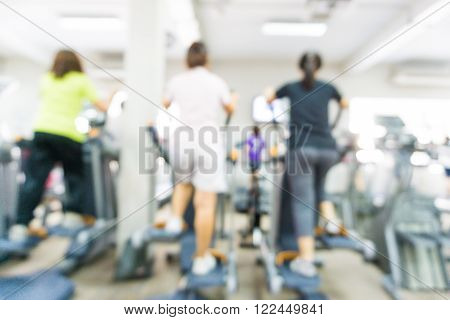Abstract Blur Fitness Gym Background