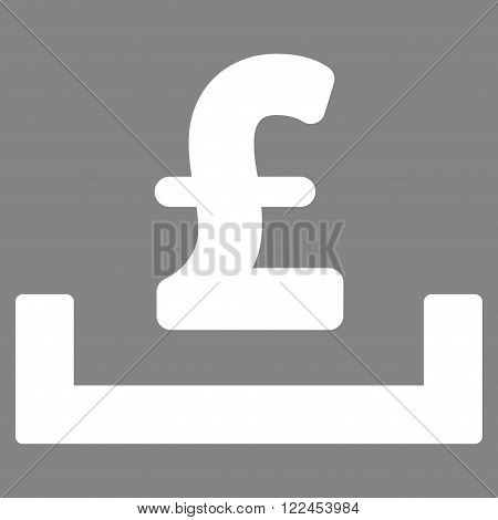 Pound Deposit Placement vector icon. Pound Deposit Placement icon symbol. Pound Deposit Placement icon image. Pound Deposit Placement icon picture. Pound Deposit Placement pictogram.