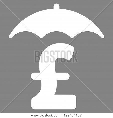 Pound Finances Roof vector icon. Pound Finances Roof icon symbol. Pound Finances Roof icon image. Pound Finances Roof icon picture. Pound Finances Roof pictogram. Flat pound finances roof icon.