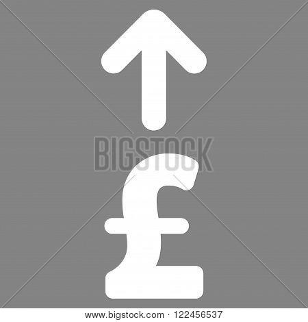 Send Pound vector icon. Send Pound icon symbol. Send Pound icon image. Send Pound icon picture. Send Pound pictogram. Flat send pound icon. Isolated send pound icon graphic.