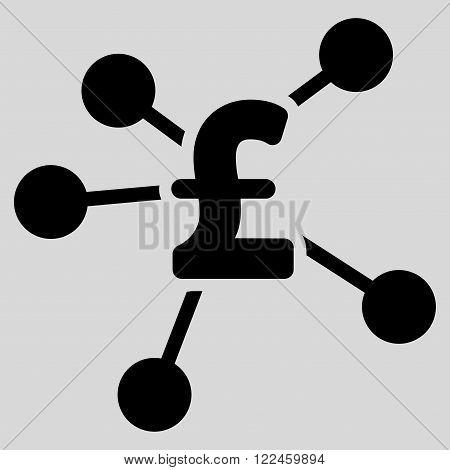 Pound Distribution vector icon. Pound Distribution icon symbol. Pound Distribution icon image. Pound Distribution icon picture. Pound Distribution pictogram. Flat pound distribution icon.