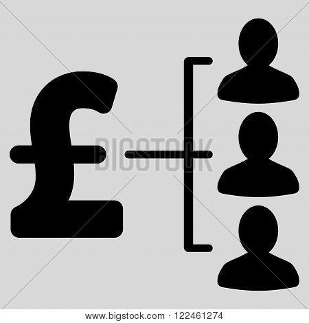 Pound Recipients vector icon. Pound Recipients icon symbol. Pound Recipients icon image. Pound Recipients icon picture. Pound Recipients pictogram. Flat pound recipients icon.
