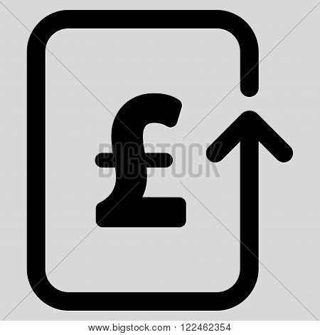 Reverse Pound Transaction vector icon. Reverse Pound Transaction icon symbol.
