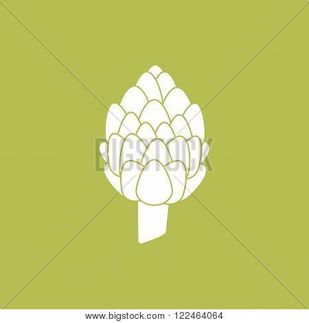Artichoke icon vector Artichoke. Organic food farm food. Vegetable Icon.