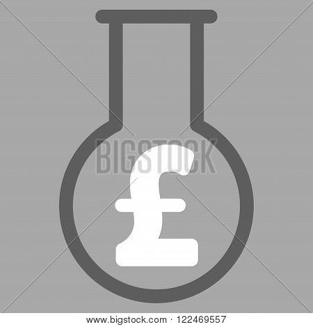 Pound Financial Alchemy vector icon. Pound Financial Alchemy icon symbol. Pound Financial Alchemy icon image. Pound Financial Alchemy icon picture. Pound Financial Alchemy pictogram.