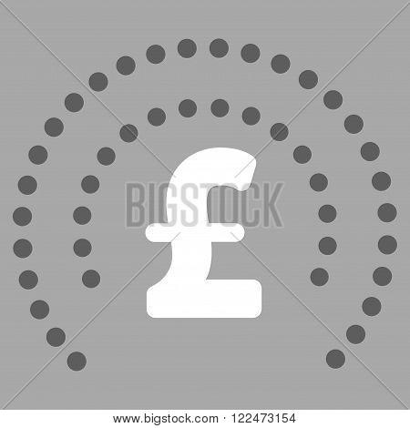 Pound Sphere Shield vector icon. Pound Sphere Shield icon symbol. Pound Sphere Shield icon image. Pound Sphere Shield icon picture. Pound Sphere Shield pictogram. Flat pound sphere shield icon.