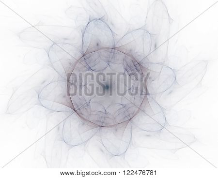 Abstract Fractal Patterns And Shapes. Digital Artwork For Creative Graphic Design. Symmetric Fractal