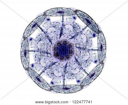 Stained Glass Flower Or Butterfly, Digital Fractal Art Design