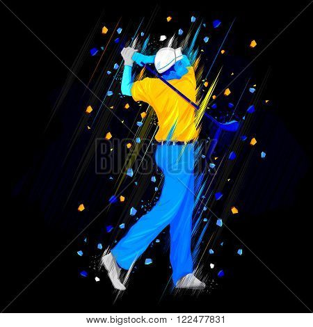 easy to edit vector illustration of golf player