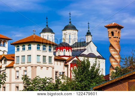 Kovilj Monastery in Fruska Gora - Serbia - architecture travel background poster