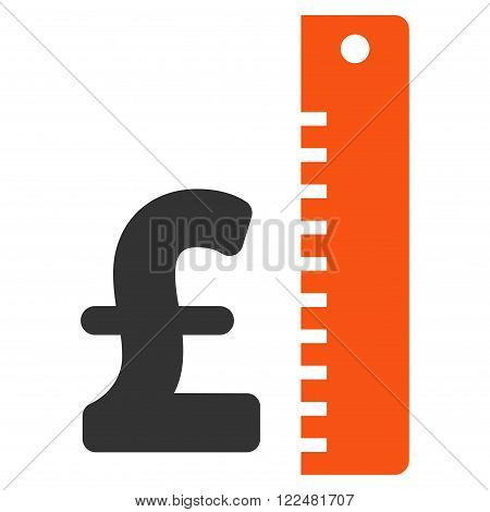 Pound Rate vector icon. Pound Rate icon symbol. Pound Rate icon image. Pound Rate icon picture. Pound Rate pictogram. Flat pound rate icon. Isolated pound rate icon graphic.