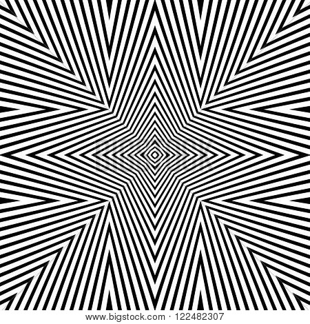 Optical Illusion Background Vector Illustration