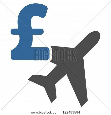 Aviation Pound Business vector icon. Aviation Pound Business icon symbol. Aviation Pound Business icon image. Aviation Pound Business icon picture. Aviation Pound Business pictogram.