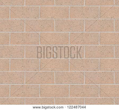 Seamless Cinder Block Wall with Pink Cement Bricks