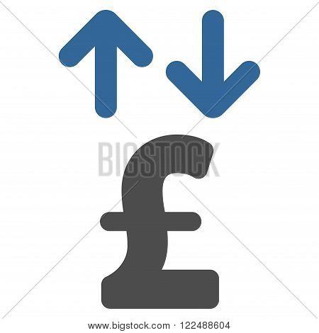 Pound Transactions vector icon. Pound Transactions icon symbol. Pound Transactions icon image. Pound Transactions icon picture. Pound Transactions pictogram. Flat pound transactions icon.