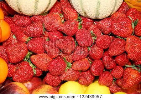 Freshly Picked Strawberries For Sale On The Market