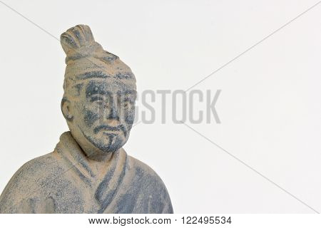 Replica of a terracotta infantryman from the funerary army of Qin Shi Huang first Emperor of China