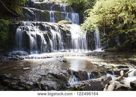 Purakanui waterfall in the Catlins New Zealand