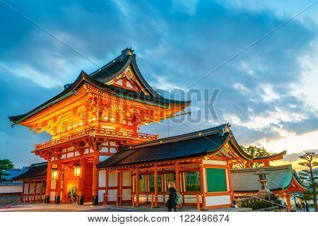 Fushimiinari Taisha ShrineTemple in Kyoto, Japan