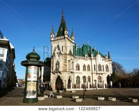 KOSICE SLOVAKIA - DECEMBER 04 2014: Old castle in center Kosice city. Slovakia.