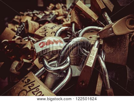 The unbreakable love symbolized by love lock