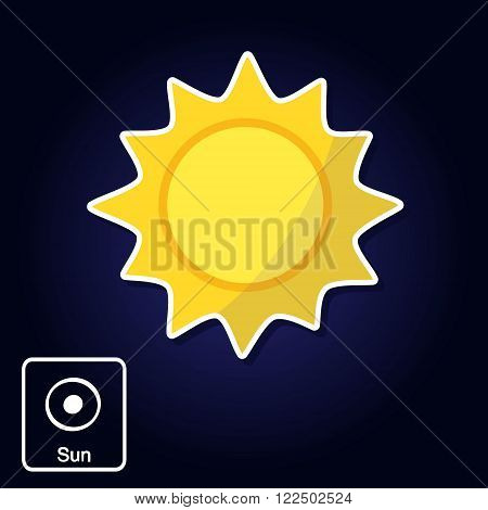 Stock vector icons with Sun and astrology symbol of planet for your design