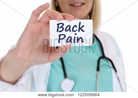 Back Pain Screening Check-up Ill Illness Healthy Health Doctor Nurse