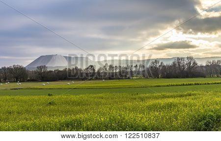 Stockpile In Rural Landscape