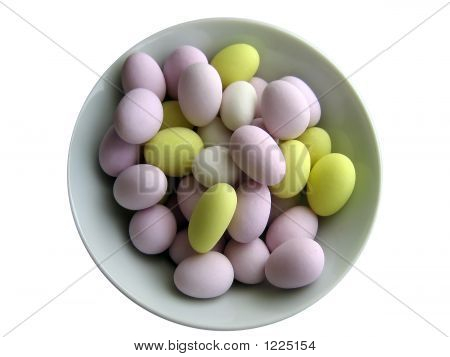 Sugared Almonds In Bowl